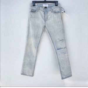 NWT Current Elliot The Cropped Straight Leg Jeans
